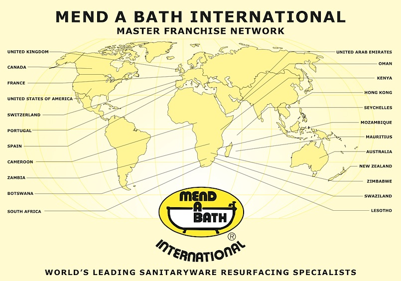Mend A Bath International franchise map